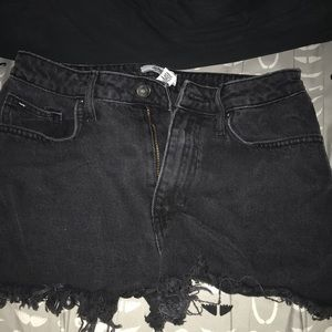 black forever 21 shorts, high waisted